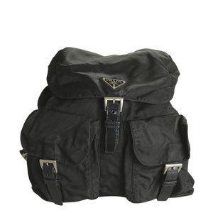 Prada B2611F Black Nylon Backpack 189124